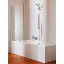 Zástěna vanová Huppe - 501 Design pure 750-765x1500mm stříbrná lesklá/čiré AP