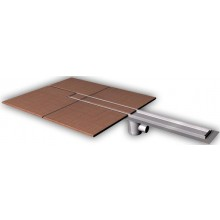 AZP BRNO PZ 015.900 podlahový žlab 900mm, pro vložení kachliček, nerez ocel