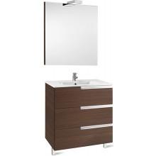 ROCA PACK VICTORIA-N FAMILY nábytková sestava 605x460x740mm skříňka s umyvadlem a zrcadlem s osvětlením wenge 7855849154