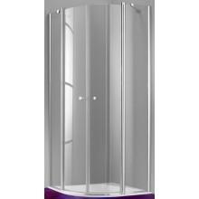 Zástěna sprchová čtvrtkruh Huppe sklo 501 Design 90x90x190 cm stříbrná m/sklo čiré