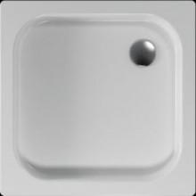 Vanička plastová Teiko čtverec Ikaria s protiskluzem 80x80x8cm bílá