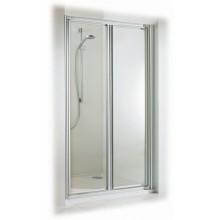 Zástěna sprchová dveře - sklo Concept 100 800x1900mm bílá/sklo čiré