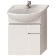 JIKA LYRA skříňka pod umyvadlo 592x315x696mm, s 2 dveřmi a 1 zásuvkou, bílá/bílá