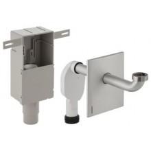 GEBERIT zápachová uzávěrka 50-56mm, pod omítku pro umyvadlo, s krabicí pro montáž do stěny, se šroubením pro odpadní ventil