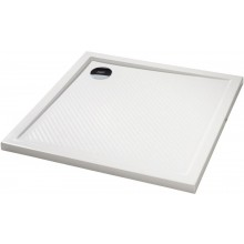 HÜPPE PURANO vanička 1000x1000mm, čtverec, litý mramor, bílá