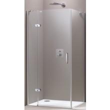 Zástěna sprchová boční Huppe sklo Aura elegance Akce 1000x1900mm stříbrná matná/Sand Plus AP