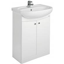 Umyvadlo nábytkové Kolo s otvorem Nova 55x45 cm bílá