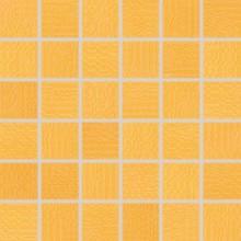 RAKO TRINITY mozaika 30x30cm, lepená na síťce, oranžová
