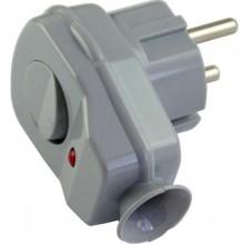 CONCEPT VS vidlice s vypínačem 16A/250V šedá
