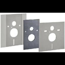 GEBERIT DUOFIX krycí deska 400mm, se soupravou pro tlumení zvuku, pro závěsné WC, výškově nastavitelná, nerez