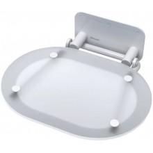 RAVAK OVO CHROME sedátko 410x365x95mm, do sprchového koutu, chrom clear/white