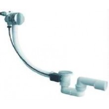 JIKA SPECIAL LINE vanový sifon 550mm, automatický, komplet, s napouštěním, plast, bílá/chrom