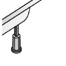 LAUFEN PLATINA nohy ke sprchovým vaničkám výška 87-115mm