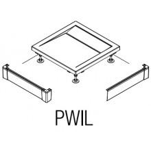 SANSWISS PWIL L-panel 1000x1000mm, přední, bílá