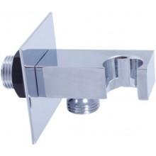 RAV SLEZÁK držák sprchy 60x60mm, s vývodem pro hadici, kov, chrom