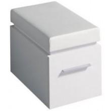 KERAMAG SILK sedák 38x45/49x56cm, nastavitelný ve dvou výškách, bílá lesklá 816072000