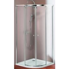 Zástěna sprchová čtvrtkruh Huppe sklo 501 Design 90x90 cm, výška 1900 mm stříbrná matná/čiré A-P