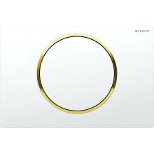 GEBERIT SIGMA 10 ovládací tlačítko 24,6x16,4cm, bílá/zlatá 115.758.KK.5