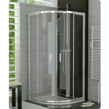 Zástěna sprchová čtvrtkruh Ronal sklo TOP-line 1000x1900 mm matný elox/čiré AQ
