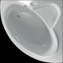 Akrylátová rohová vana FLORIDA s opěrnou částí hlavy a sedacím místem může být dovybavena čelním krycím panelem a hydromasážními systémy řady ECO a STANDARD.