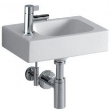 Umývátko klasické Keramag s otvorem iCon s otvorem vlevo 38x28 cm bílé