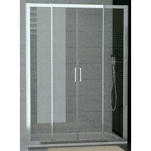 SANSWISS TOP LINE TOPS4 sprchové dveře 1600x1900mm, dvoudílné posuvné s 2 pevnými stěnami v rovině, aluchrom/sklo Cristal perly