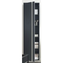 DURAVIT KETHO skříňka 500x360mm vysoká, levá, basalt matt/basalt matt KT1265L4343