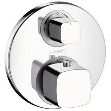 Baterie termostatická Hansgrohe - Metris Ecostat E podomítková, vrchní díl s přepínačem  chrom