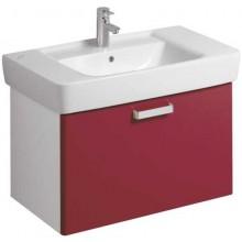 Nábytek skříňka pod umyvadlo Keramag Renova Nr.1 Plan 78x46,3x44,5cm bílá/lesklá rubínová