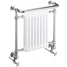 HERITAGE CLIFTON koupelnový radiátor 527W článkový, ocel, chrom/bílá