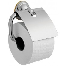 AXOR CARLTON držák na toaletní papír 142mm, s krytem, chrom/vzhled zlata 41438090
