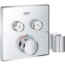 GROHE GROHTHERM SMARTCONTROL termostat s podomítkovou instalací 191x43x158mm, s 2 ventily a integrovaným držákem na sprchu, chrom