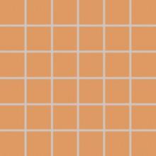 RAKO COLOR TWO mozaika 30x30cm, lepená na síťce, tmavě oranžová