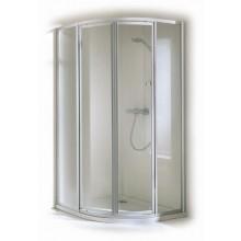 Zástěna sprchová čtvrtkruh - sklo Concept 100 1000x1900mm bílá/sklo čiré