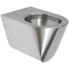 SANELA SLWN 04 závěsné WC 359x535x362mm, antivandal, nerez mat