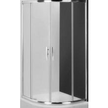 ROLTECHNIK PROXIMA LINE PXR2N/1000 sprchový kout 1000x1850mm čtvrtkruhový, s dvoudílnými posuvnými dveřmi, rámový, brillant/transparent