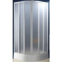 Zástěna sprchová čtvrtkruh Ravak plast SKKP6-80 posuvný 80 bílá/pearl