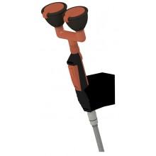 SANELA SLSN22 oční sprcha 144x315mm, ruční, se dvěma hlavicemi, s držákem na stěnu
