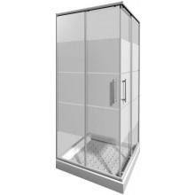 Zástěna sprchová čtverec Jika sklo Lyra plus 80x190 cm stripy