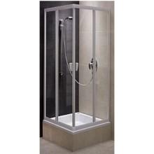 Zástěna sprchová čtverec Kolo sklo Fresh 800x1850 mm stříbrná matná/sklo STRIP
