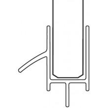 RAVAK lišta s okapničkou pro ESD2 110, 120, pravá