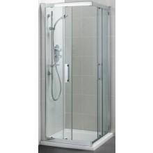 Zástěna sprchová čtverec Ideal Standard sklo Synergy L 6374 EO 90x190 cm Silver Bright/Transparente