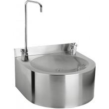 SANELA SLUN62S pitná fontána 350x350X200mm, závěsná, s tlačnou pitnou armaturou, armaturou pro napouštění sklenic, nerez