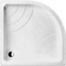 ROLTECHNIK HAWAII-P sprchová vanička 900x900x170mm R550 akrylátová, čtvrtkruhová, bílá