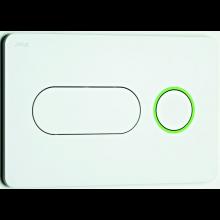 JIKA PL8 tlačítko Dual Flush, 250x160mm, bílá, zelený proužek