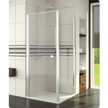 Zástěna sprchová boční Ronal Swing-Line SLT1 0700 01 44 700x1950mm matný elox/Cristal Perly AQ