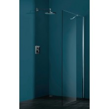 Zástěna sprchová boční Huppe sklo Rrefresh pure Akce 100x194,3cm stříbrná matná/Karo AP