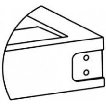 RIHO držák ručníku 40x10x4,5mm, se záslepkou