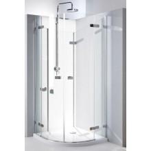 Zástěna sprchová čtvrtkruh Kolo sklo Next 900x1950 mm chrom/stř.lesklá/čiré sklo