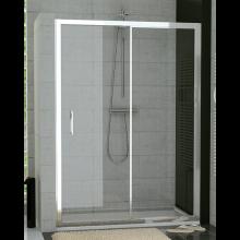 SANSWISS TOP LINE TOPS2 sprchové dveře 1400x1900mm, jednodílné posuvné, s pevnou stěnou v rovině, aluchrom/čiré sklo Aquaperle